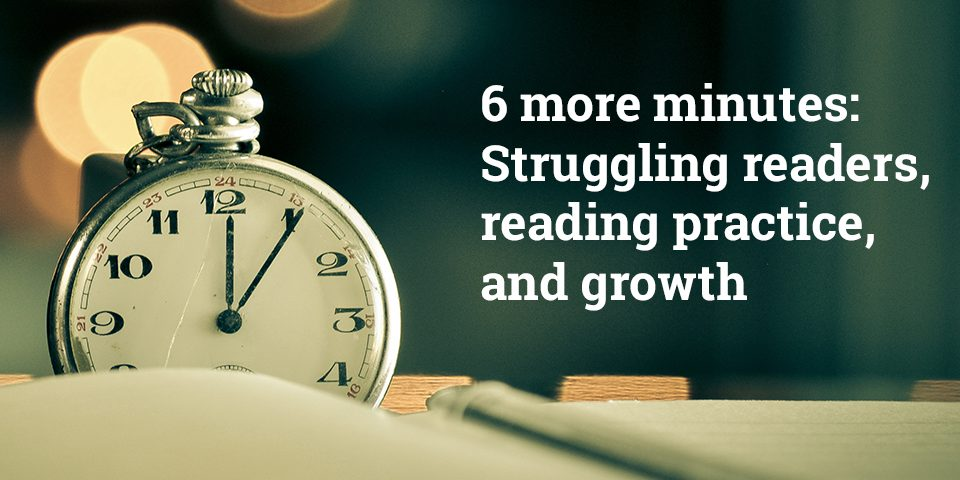 6 More Minutes - Struggling Readers, Reading Practice, and Growth