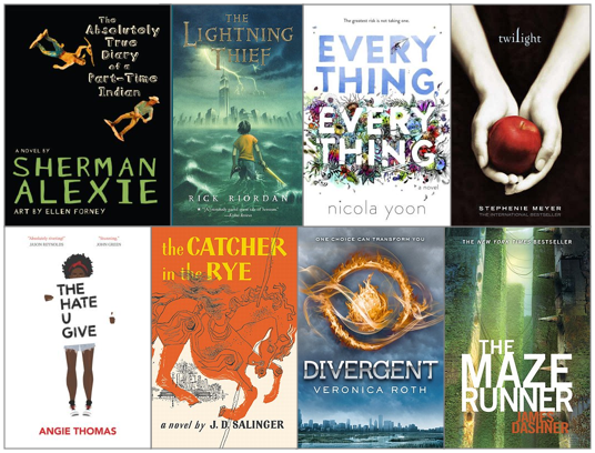 Most popular, best fiction and nonfiction books for students in high school, upper grades, teenagers
