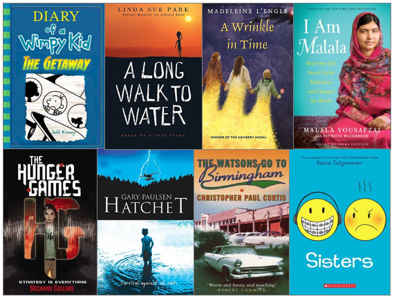 Most popular, best fiction and nonfiction books for students in middle school, middle grades
